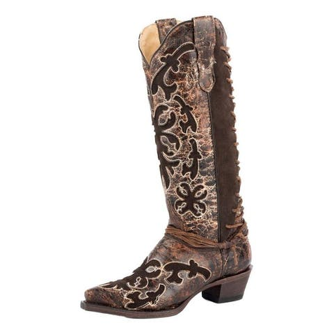 Stetson Western Boots Womens Ande Leather Brown