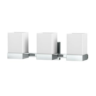 """Gatco 1605 Elevate 3 Light 19-5/8"""" Wide Bathroom Vanity Light with Frosted Shade"""