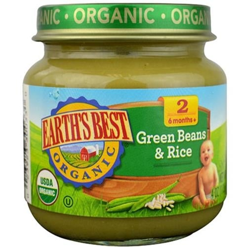 Earth's Best - Organic Green Beans & Rice ( 12 - 4 OZ)