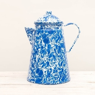 Crow Canyon D45DBM Coffee Pot, 12 Cup, Dark Blue Marble