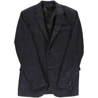 Theory Mens Wellar Wool Plaid Two-Button Blazer - 40R