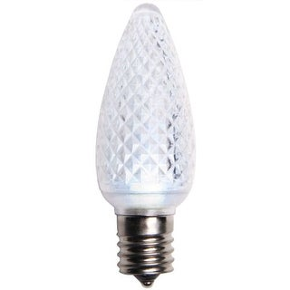Wintergreen Lighting 43265 C9 Dimmable Cool White LED Christmas Light Bulbs - Pack of 25