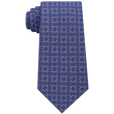 Michael Kors Mens Geomtric Self-Tied Necktie - One Size