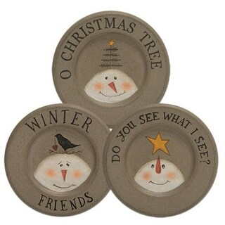 O Christmas Tree Plate 3 Asst.