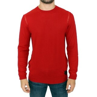 Karl Lagerfeld Karl Lagerfeld Red wool crewneck pullover sweater