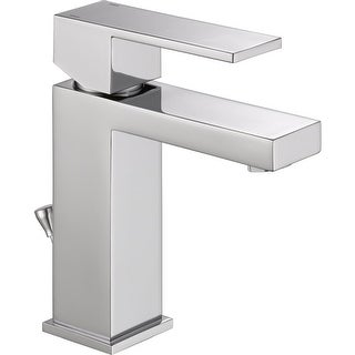 Delta 567LF-PP Angular Modern Single Hole Bathroom Faucet with Pop-Up Drain Assembly - Includes Life