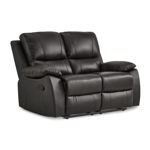 Rittman Leather Double Reclining Love Seat