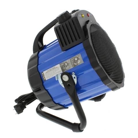 Comfort Zone CZ285 Ceramic Electric Barrel Fan-Forced Utility Heater, Blue