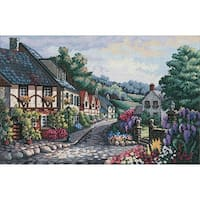 """Gold Collection Memory Lane Counted Cross Stitch Kit-17""""X11"""" 16 Count"""