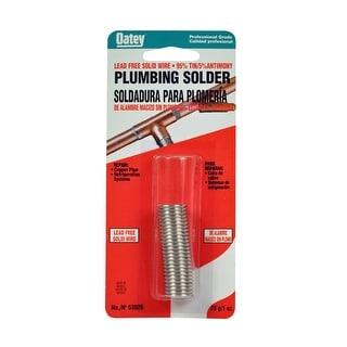 Oatey 53026 95/5 Lead Free Plumbing Wire Solder, 1 Oz, Silver