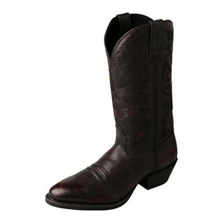 Twisted X Western Boots Mens Red Buckle Round Burgandy Brush MWT0020