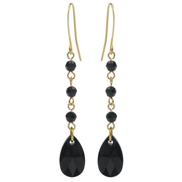 Swarovski Drop Earrings - Jet - Exclusive Beadaholique Jewelry Kit