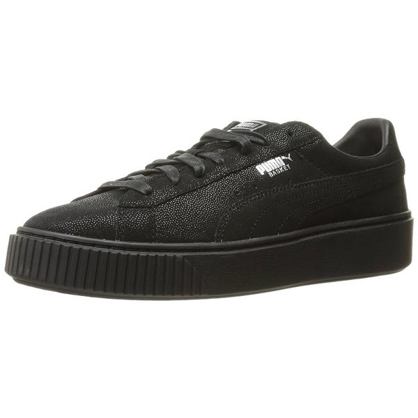 PUMA Womens Reset Leather Low Top Lace Up Fashion Sneakers
