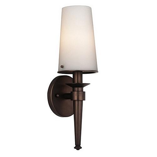 Philips Forecast F542770E1 1-Light Bath Torch Wall Sconce Lamp Merlot Bronze - Deep Bronze