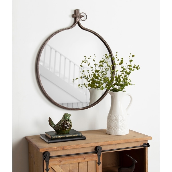 Kate and Laurel Yitro Round Wall Mirror. Opens flyout.