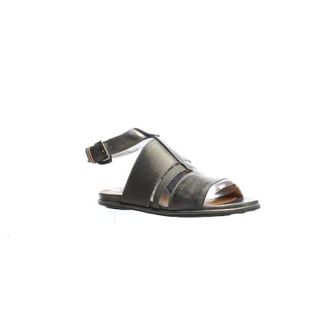 Gentle Souls Womens Ophelia Pewter Ankle Strap Sandals Size 5.5