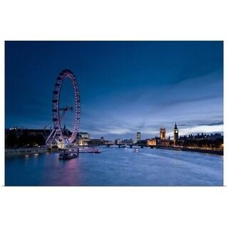 """""""London Eye, London, England"""" Poster Print"""