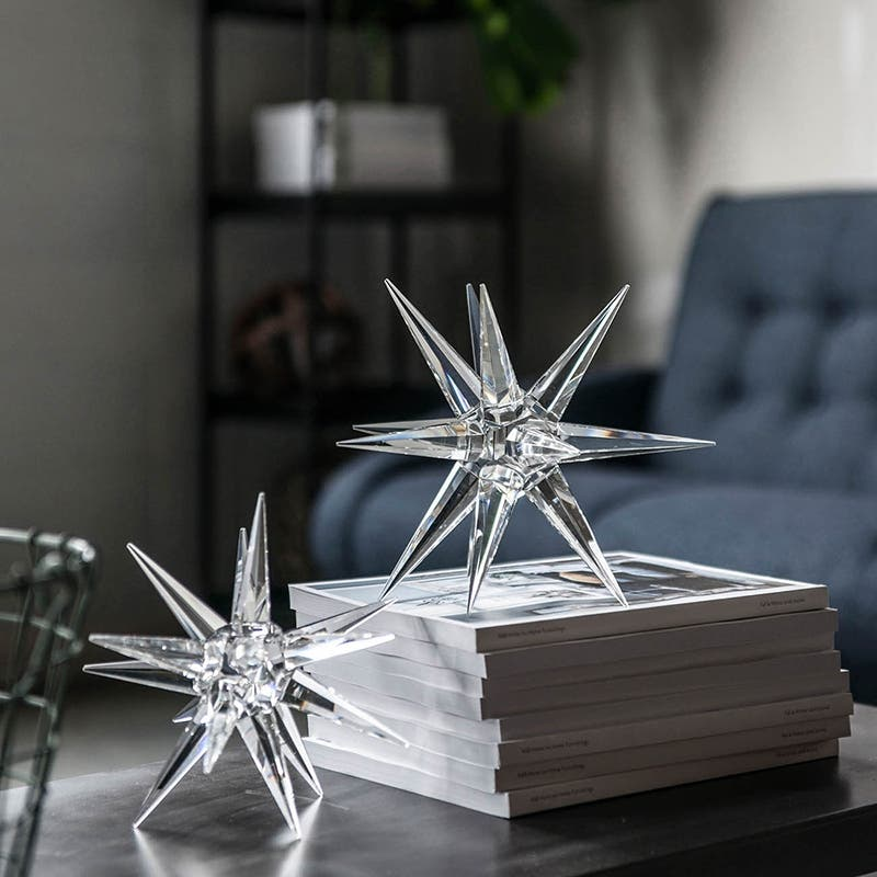 A B Home 9 5 Inch Clear Crystal Star Decor Overstock 16720550