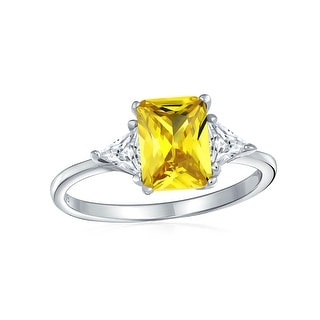 Link to 3CT Canary Yellow Princess Cut AAA CZ Engagement Ring Sterling Silver Similar Items in Rings