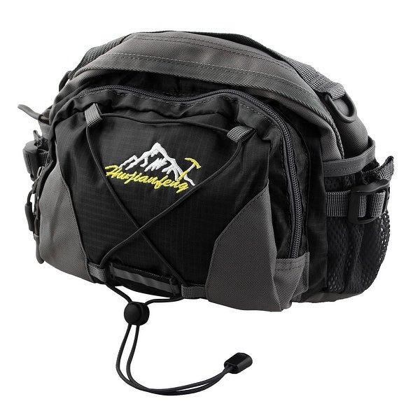 HWJIANFENG Authorized Single Shoulder Pack Adjustable Sports Waist Bag Black