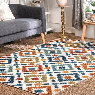 Link to The Curated Nomad Lowell Bohemian Casuals Trellis Outdoor Area Rug Similar Items in Transitional Rugs