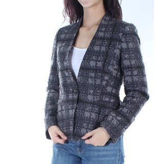 RACHEL ROY $149 Womens New 1281 Gray Pocketed Suit Wear To Work Jacket 10 B+B
