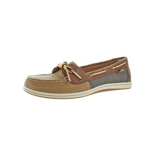 Sperry Womens Barrelfish Boat Shoes Metallic Moc Toe - 10 medium (b,m)