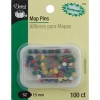 Map Pins-15mm 100/Pkg