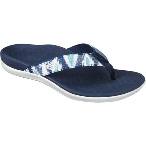 4c4b17d31839 Shop Vionic Women s Tide Sequins Sandal White Navy - Free Shipping ...