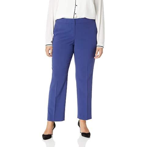 Nine West Womens Dress Pants Blue Size 14W Plus Flared Leg Stretch