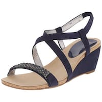 Anne Klein Womens Jasia Open Toe Casual Platform Sandals