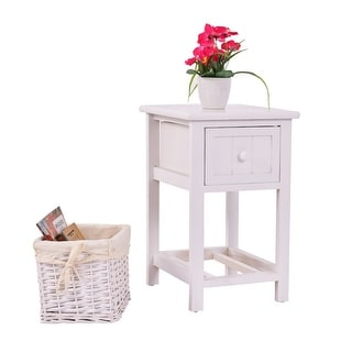 Link to Costway Night Stand 2 Layer 1 Drawer Bedside End Table Organizer  Wood Similar Items in Kids' & Toddler Furniture