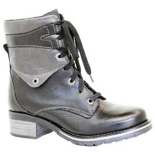 Dromedaris Women's Kara Shearling Boot Black Leather