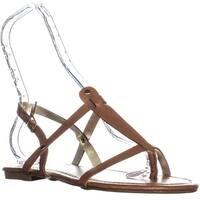 1.4.3 Girl Radko Flat Thong Sandals, Cognac - 9 us