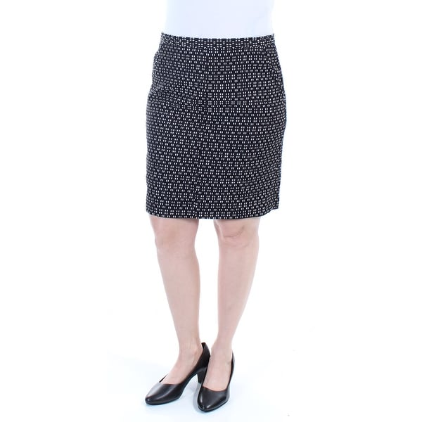 1faefa6608 Shop ANNE KLEIN Womens Black Polka Dot Knee Length Pencil Wear To Work Skirt  Size: 12 - Free Shipping On Orders Over $45 - Overstock - 21271315