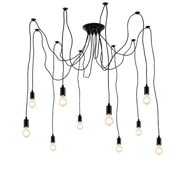 Edison Pendant Light Chandelier 10 Pendants Matte Black. Opens flyout.