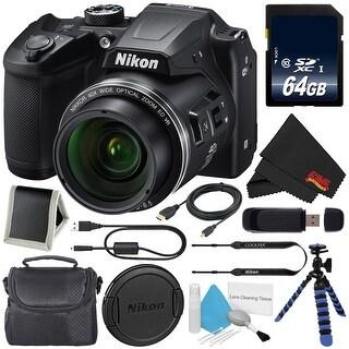 Nikon COOLPIX B500 Digital Camera 26506 + 64GB SDXC Class 10 Memory Card + Micro HDMI Cable + SD Card USB Reader Bundle