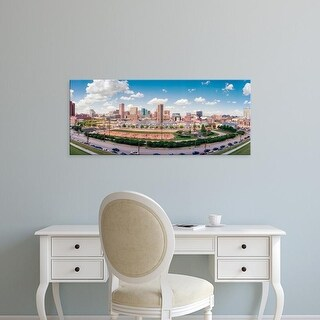 Easy Art Prints Panoramic Images's 'Skyscrapers in a city, Inner Harbor, Baltimore, Maryland, USA' Premium Canvas Art
