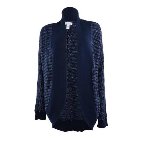 Charter Club Women's Metallic Shawl Knit Cardigan