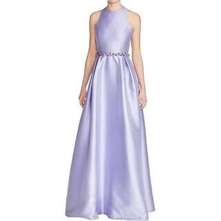 Eliza J Women S Criss Cross Embellished Waist Dress Free