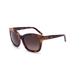 Chloe Women's  Square Oversized Sunglasses Tortoise - Small