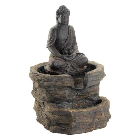 """Zen Buddha Fountain 21.12x20.12x29.37"""""""