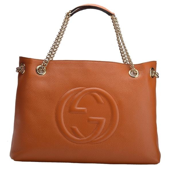 Gucci Soho Leather Chain Shoulder Handbag Sun Orange