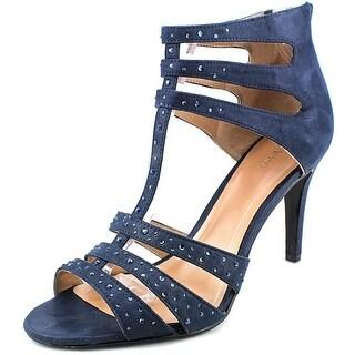 Style & Co Ulani 2 Women Open-Toe Synthetic Blue Heels