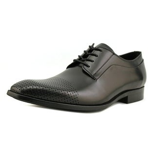 Kenneth Cole NY Course of Action Men  Square Toe Leather Black Oxford