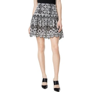 Marie Marie Womens Mini Skirt High-Waist Printed