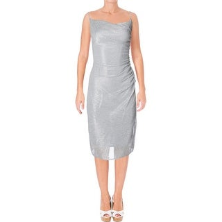 Laundry by Shelli Segal Womens Cocktail Dress Metallic V Neck