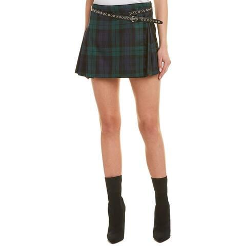Miu Miu Waist Belt Wool Skirt