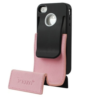 Reiko Durable Belt Clip-Style Holster Case for Apple iPhone 4/4S - Black