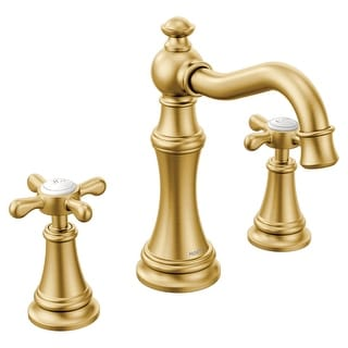 Moen TS42114  Weymouth Double Handle Widespread Bathroom Faucet